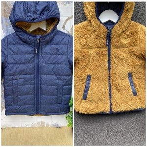 The North Face🍁🍂snow jacket Reversible 4T